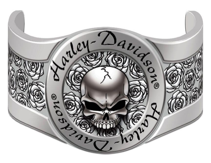 HarleyDavidson® Womens Skull & Roses Hair Ringz™ Ponytail