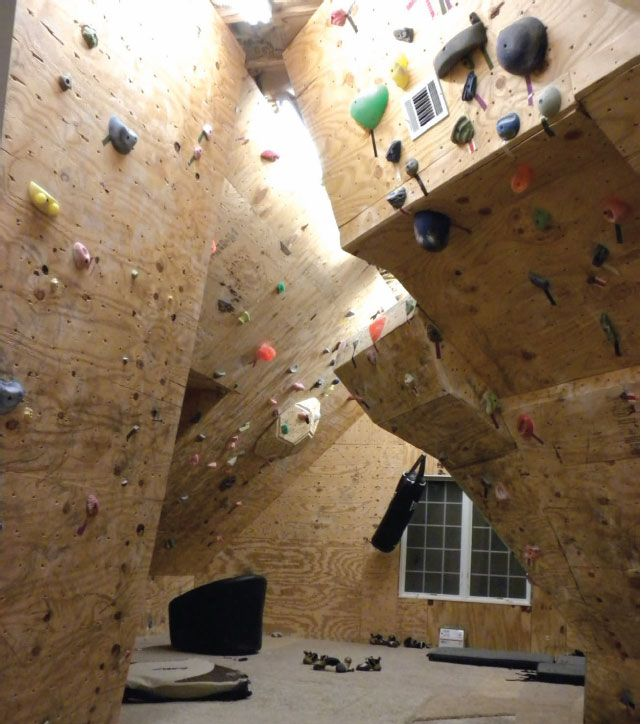 Wow What A Cool Use Of Attic Space Rockclimbing