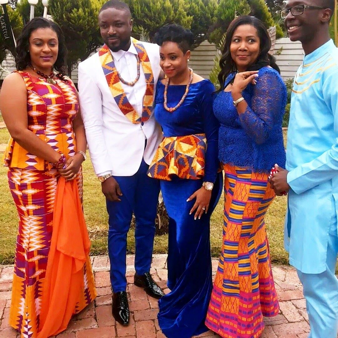 I Do Ghana Polikems Matching Kente Outfit For Destination Zimbabwe Traditional Wedding Elikem