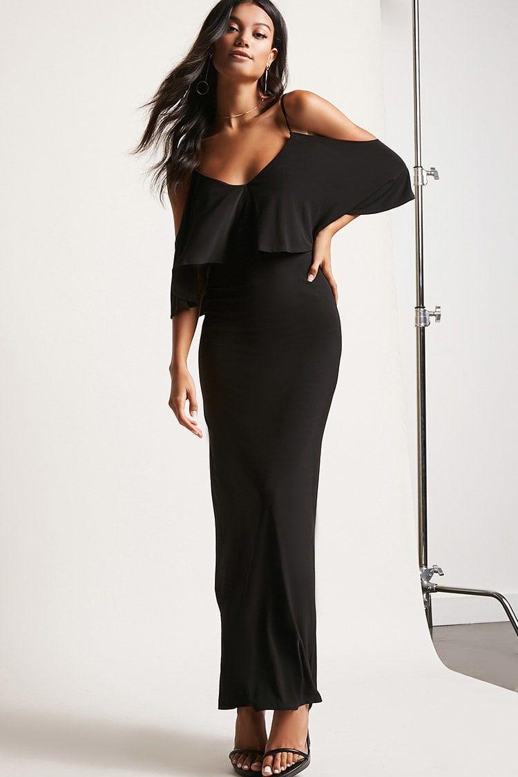 Openshoulder maxi dress usd new forever dresses