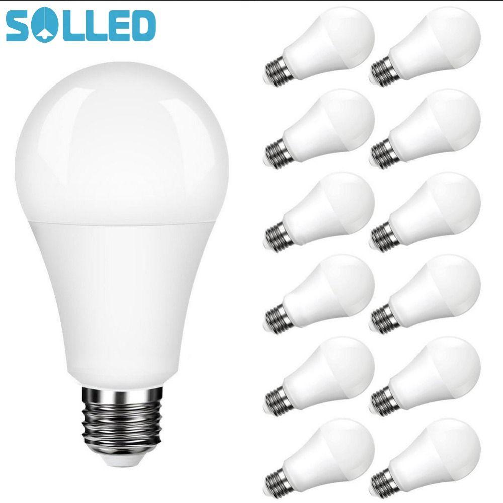 Solled Litake 12 Packed A19 E26 E27 Base Led Light Bulb Non Dimmable Daylight White 5000k 100 Watt Equival Led Light Bulbs Led Lights Energy Saving Light Bulbs