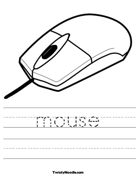 Mouse Worksheet Elementary Computer Lab Kids Computer Computer Lessons