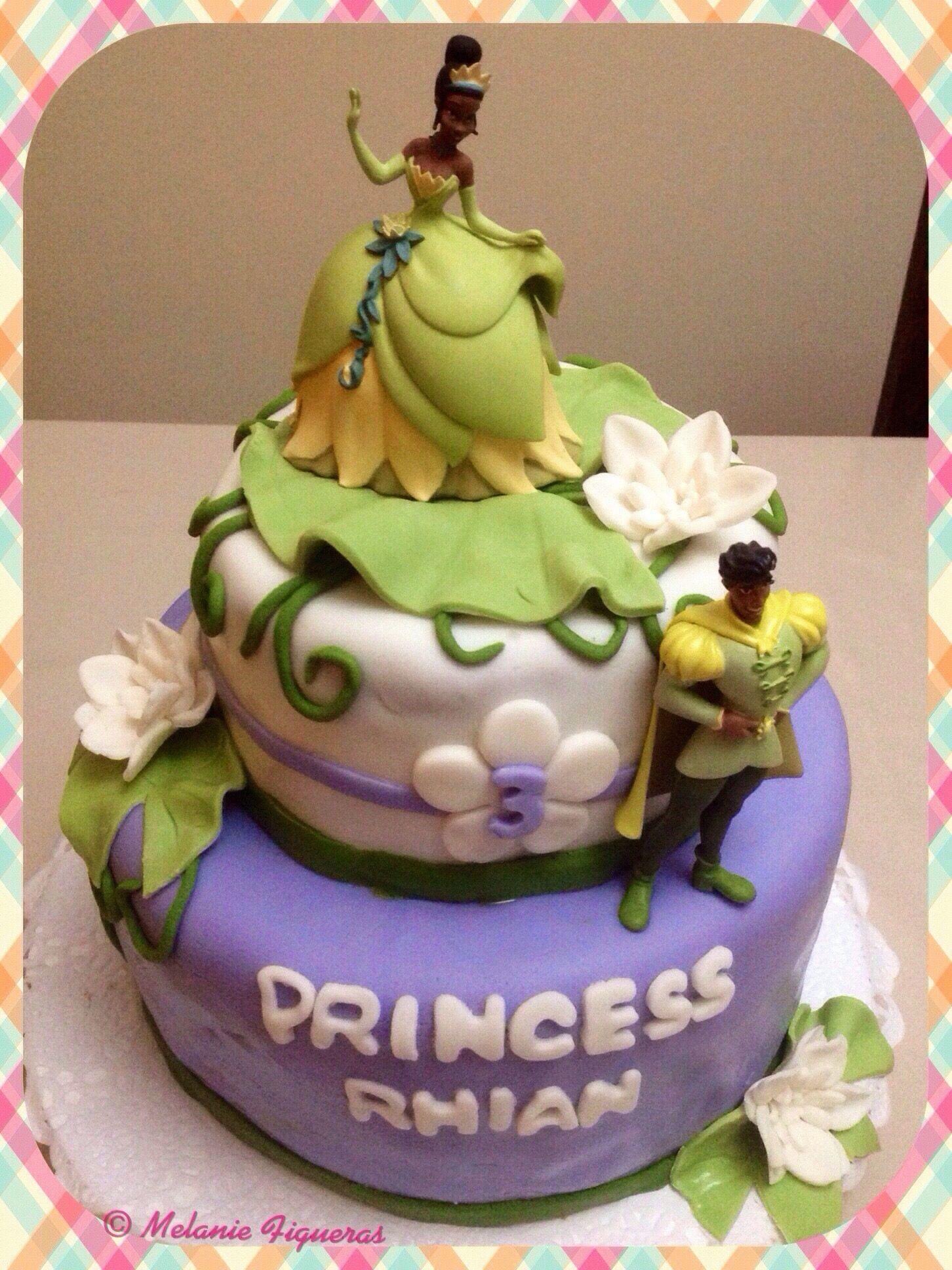 Disney Princess Tiana Princess the frog Birthday Cake