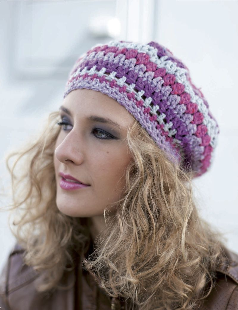 Free crochet pattern: Street Smart Beanie by Frauke Kiedaisch via ...