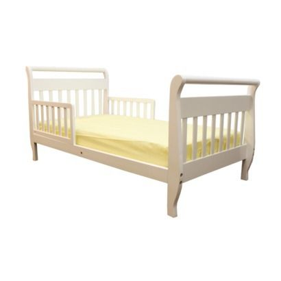 Dream On Me Toddler Sleigh Bed - White.Opens in a new ...