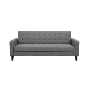 Fuze Davos Sofa Bed Dark Grey Fabric Sofa Bed Grey Fabric Sofa Sofa Armchair Sofa