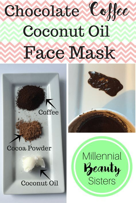 Chocolate Coffee Coconut Oil Face Mask http://millennialbeautysisters.com   Coconut oil face ...