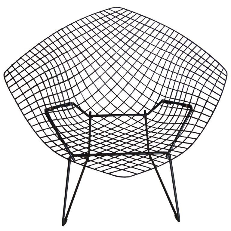 harry bertoia for knoll black diamond chair 60s 1960s 50s 1950s 50s Style Restaurant Furniture harry bertoia for knoll black diamond chair