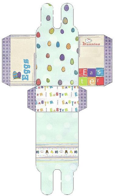 Printable easter minis pinterest gift box templates box printable easter gifteaster negle