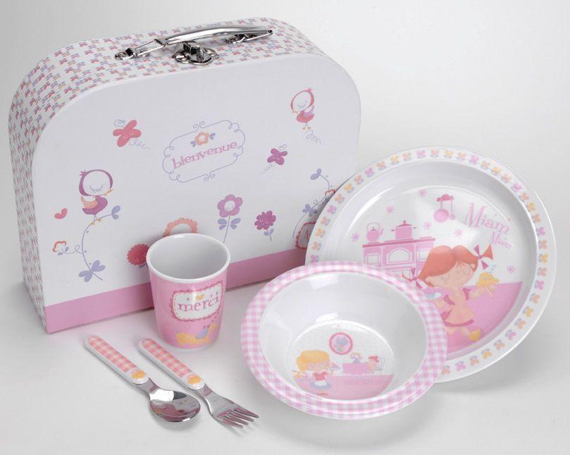 Coffret repas bébé Rose Amadeus Zoom 36.00 € Coffret repas bébé Rose ...