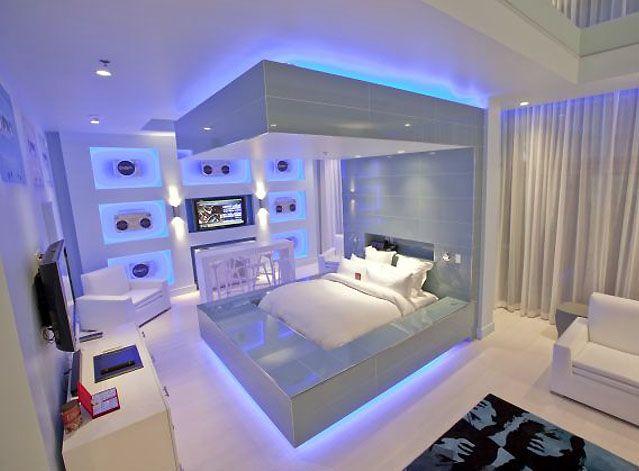 Rope Light Bedroom Cool Modern Bedroom Lighting Design Ideas