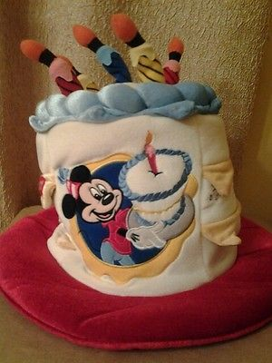 DISNEY Happy Birthday MICKEY MOUSE Cake Hat LIGHTS UP CUTE