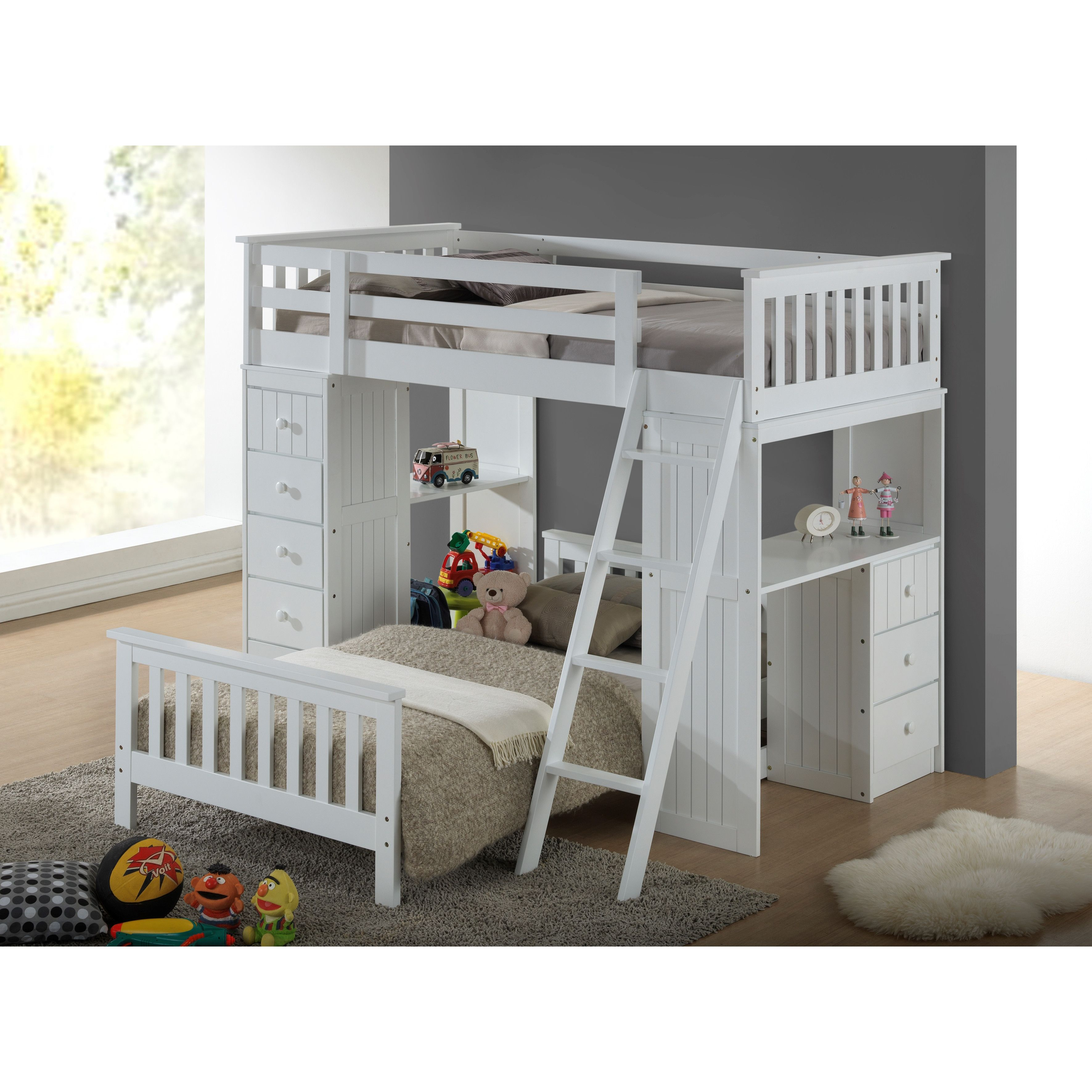 Broyhill Kids Marco Island Twin L Shaped Bunk Bed With Storage For