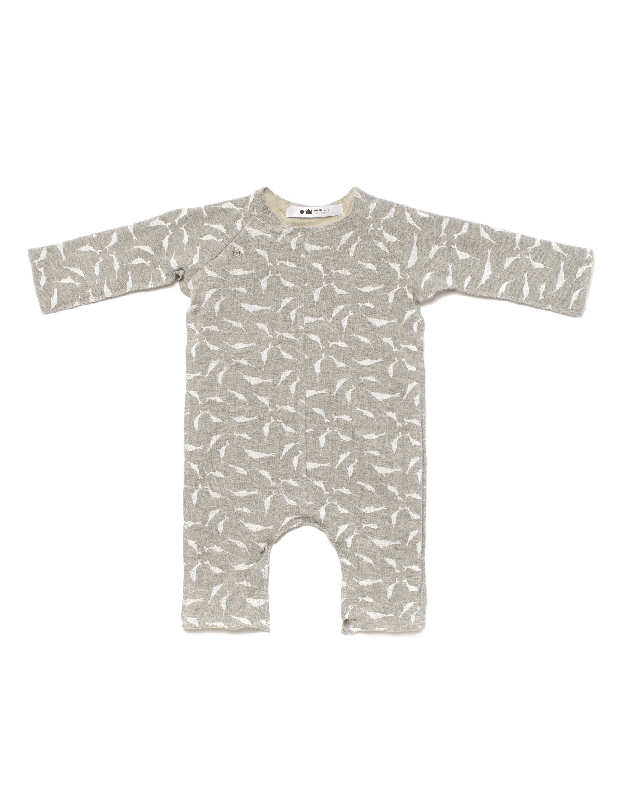 3989746d4 Baby Knit One-Piece with Small Narwhals Print