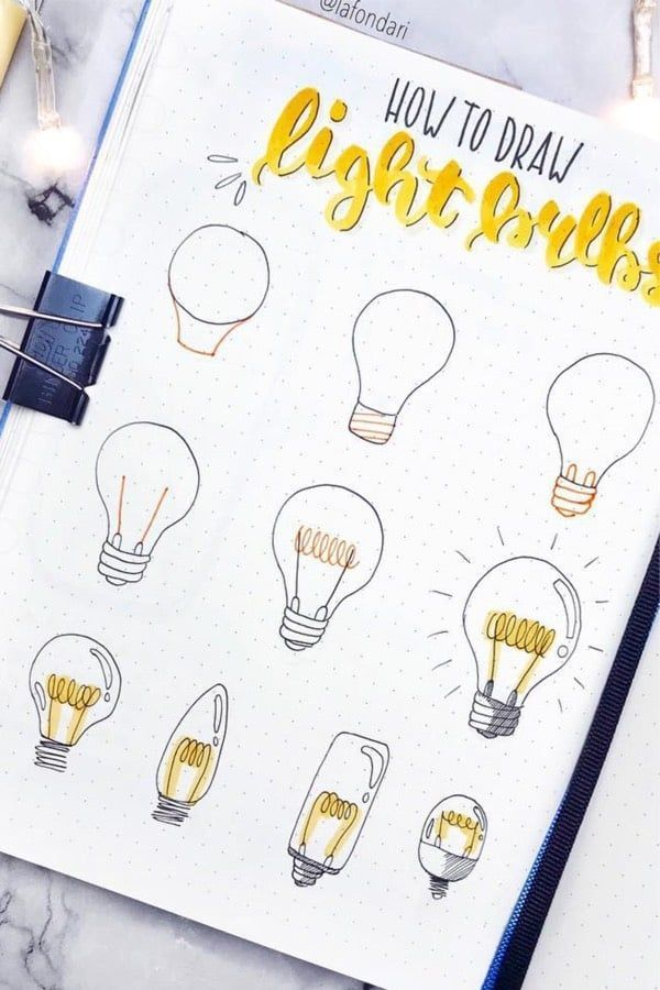 Step By Step Bullet Journal Doodle Tutorials Vol.1 #journaling