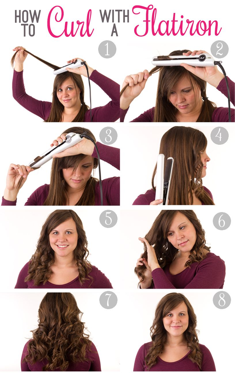 How To Curl Your Hair With A Flatiron How To Curl Your Hair Hair Styles Hair Waves
