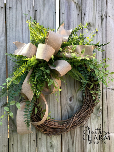 Superbe DIY Outdoor Winter Wreath For Your Front Door By Southern Charm Wreaths