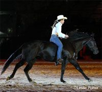 """Known as """"Roxy,"""" the AQHA mare rose to stardom after winning the Quarter Horse Congress Freestyle Reining championship with Stacy Westfall."""