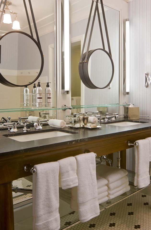 Hang A Smaller Mirror Over Dull Unframed Bathroom As Seen On Decor