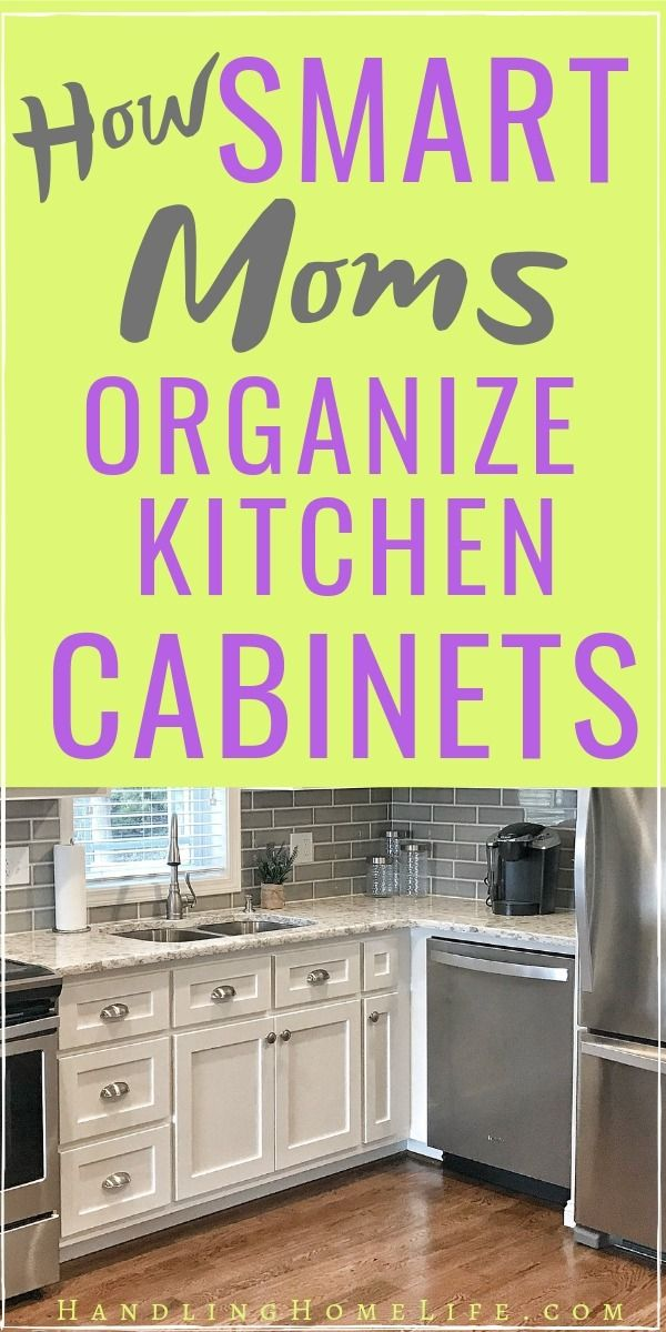 How to Quickly Organize Kitchen Cabinets in 1 Day