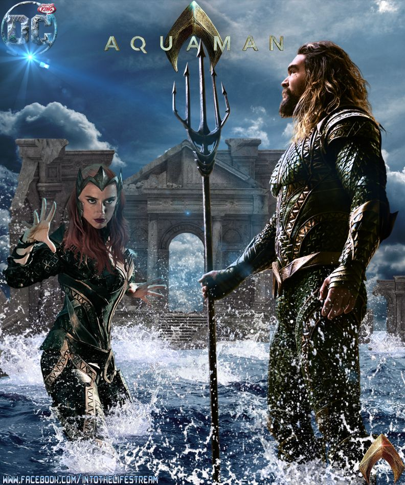 Dc Comics Aquaman Jason Momoa And Mera Amber Heard Justice League Aquaman Aquaman Film Jason Momoa Aquaman