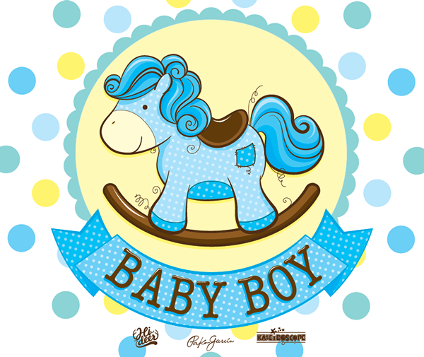 cute illustration of a baby rocking horse for kaleidoscope ... - Baby Rocking Horse Coloring Pages