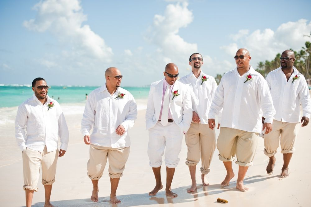 Mens Wedding Beach Attire Possibly Long Shorts Instead Of