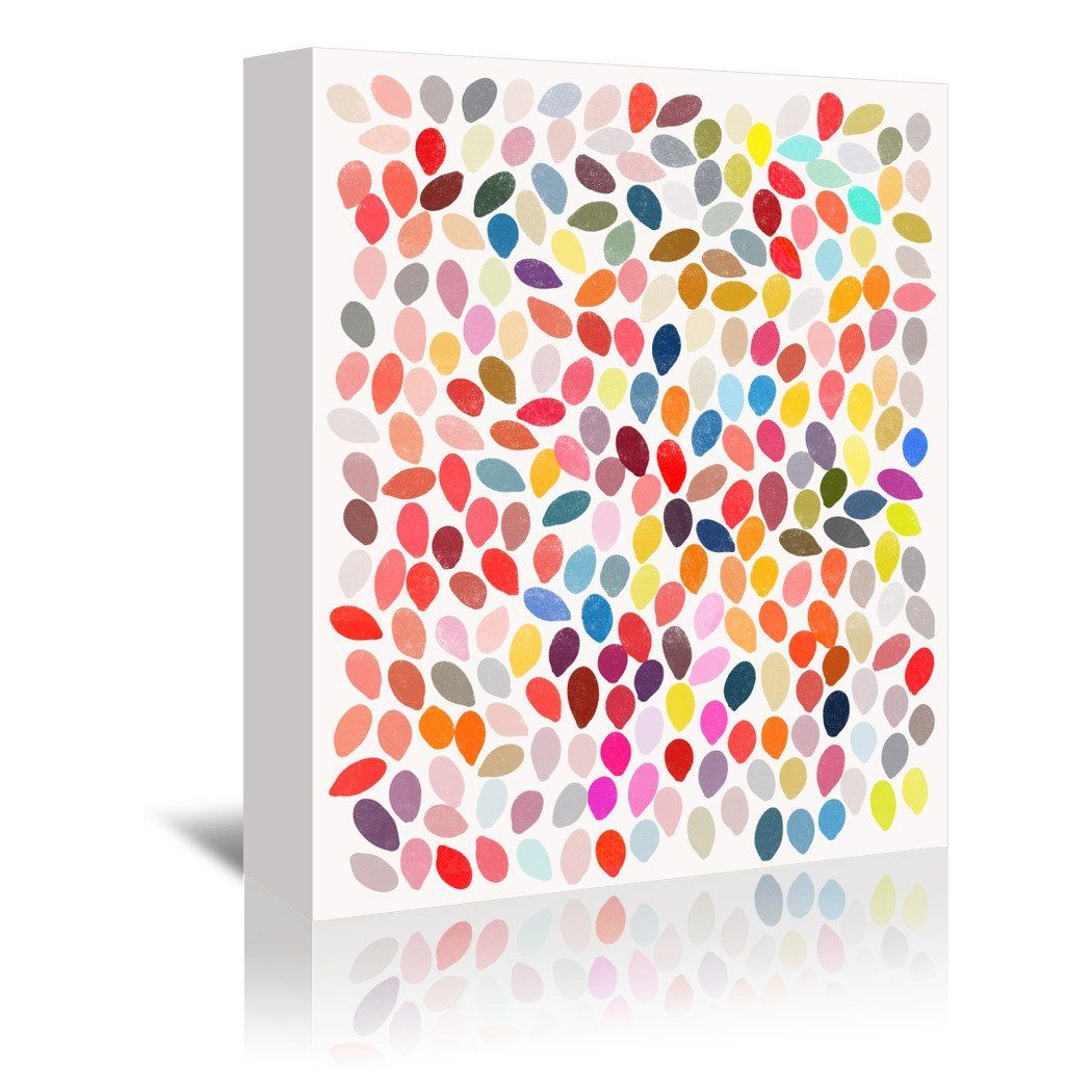Rain 3 By Garima Dhawan Wrapped Canvas Abstract Art Prints Prints Fine Art Giclee Prints