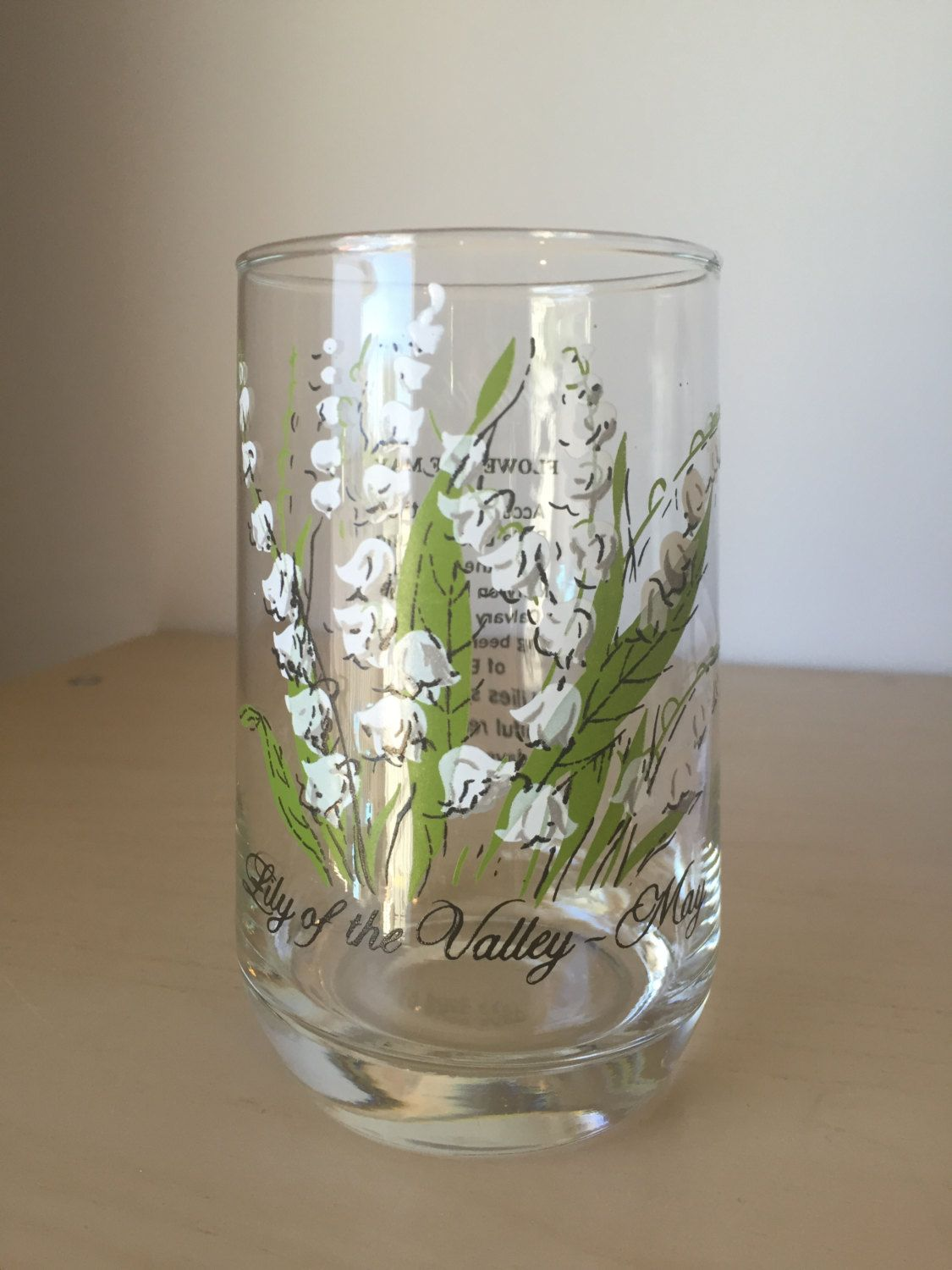 Vintage flower of the month drinking glass may lily of the valley vintage flower of the month drinking glass may lily of the valley drinkware izmirmasajfo