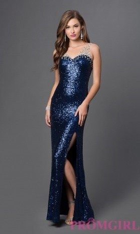 Dark Blue Sparkly Prom Dress - Every woman wants to possess a ...
