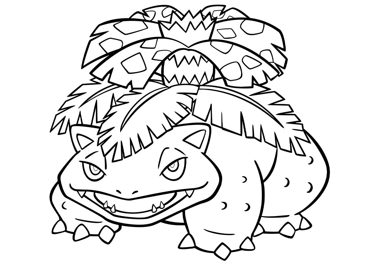 003 Venusaur High Quality Free Coloring From The Category Pokemon More Printable Pictures On Our Web Pokemon Coloring Pages Pokemon Coloring Coloring Pages