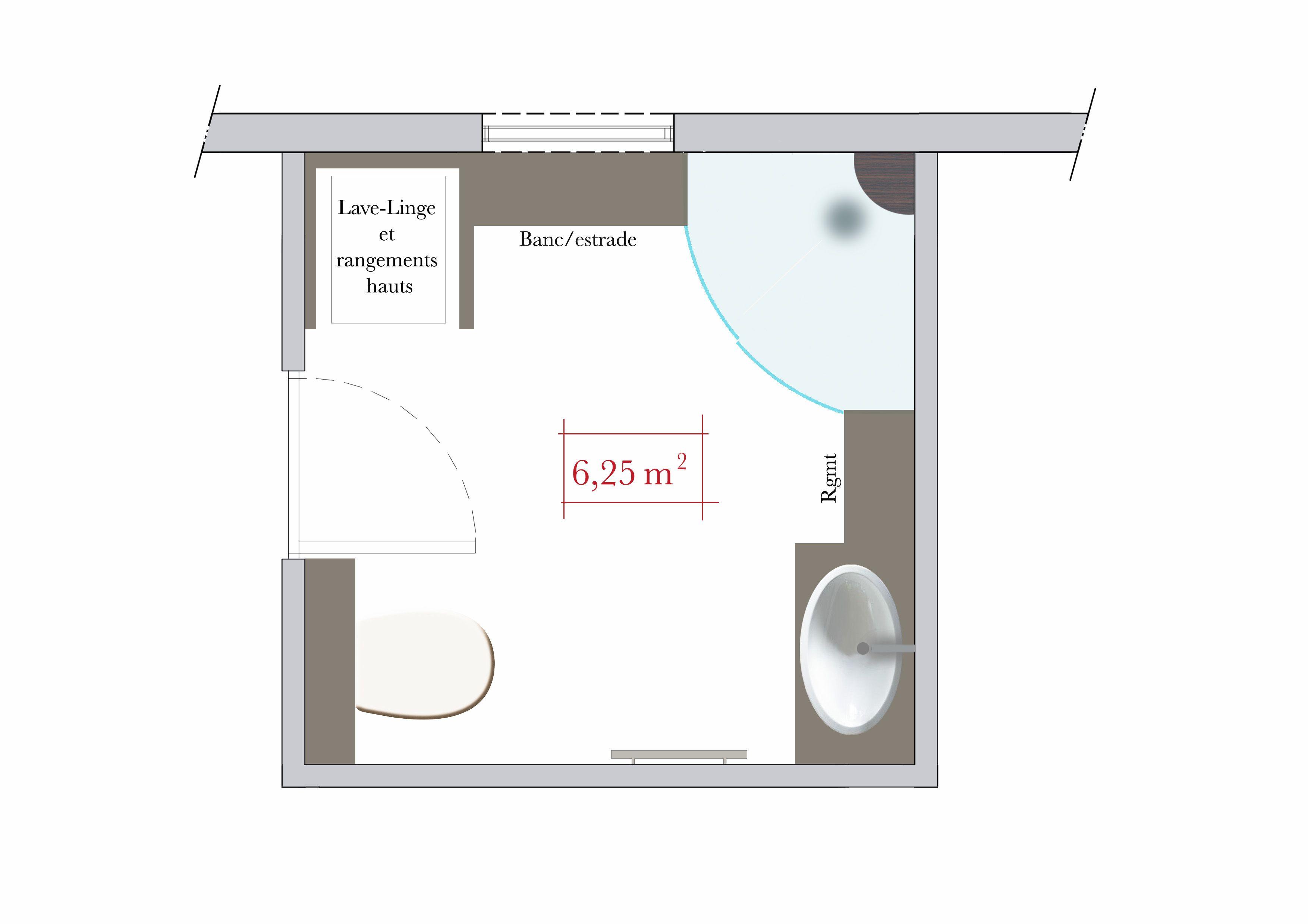 conseils darchitecte 4 plans de salle de bain carre - Plan Salle De Bain Avec Wc