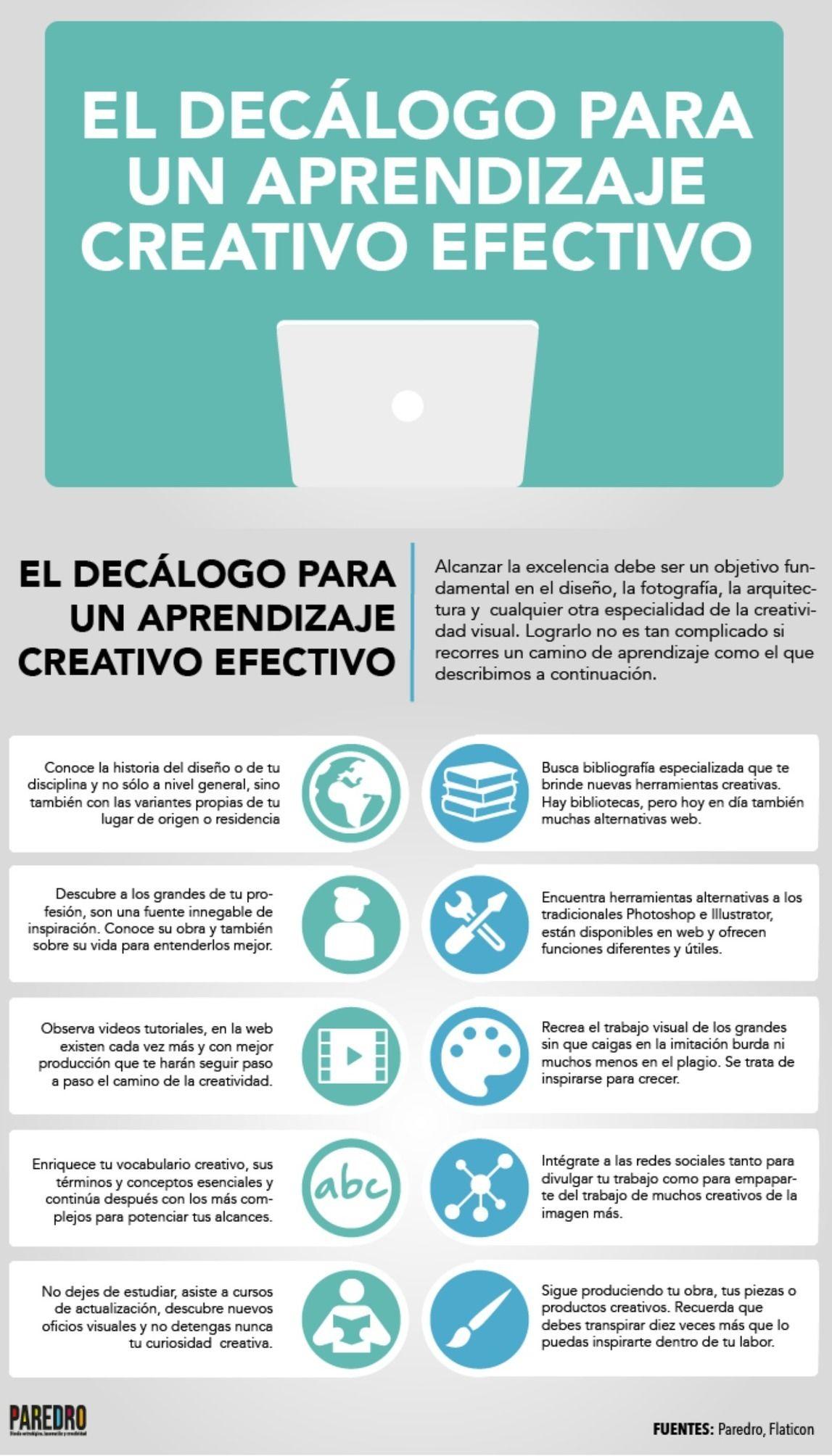 Decálogo para una aprendizaje creativo efectivo #infografia ...