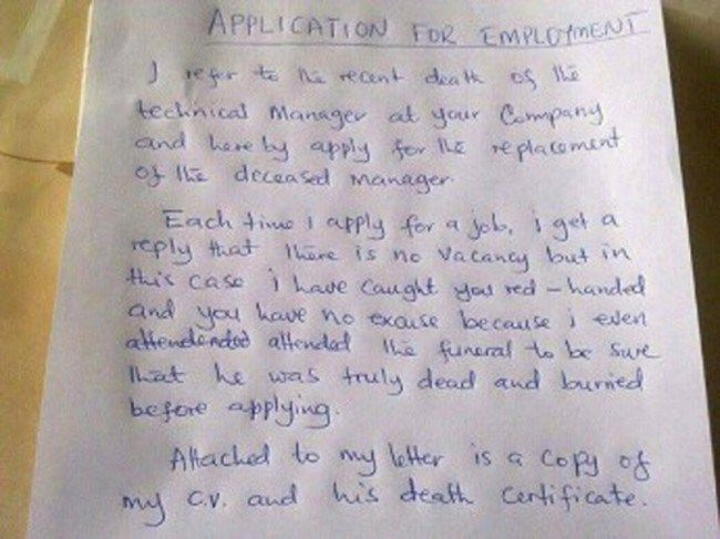 application for employment death certificate - Google zoeken Fun - application for employment