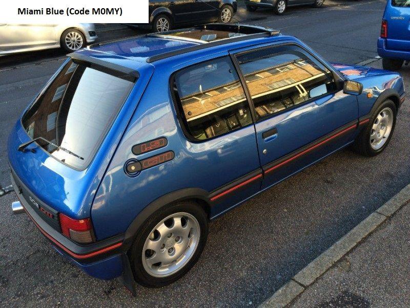 peugeot gti 205 phase 2 miami blue peugeot gti 205 phase 2 pinterest peugeot cars et. Black Bedroom Furniture Sets. Home Design Ideas