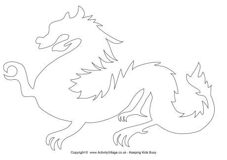 chinese dragon template must make dragon chinese dragon templates