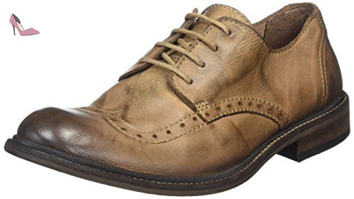 Marron London Fly Antique 003 41 Tan Homme HUGH933FLY Brogues IaxqwOp