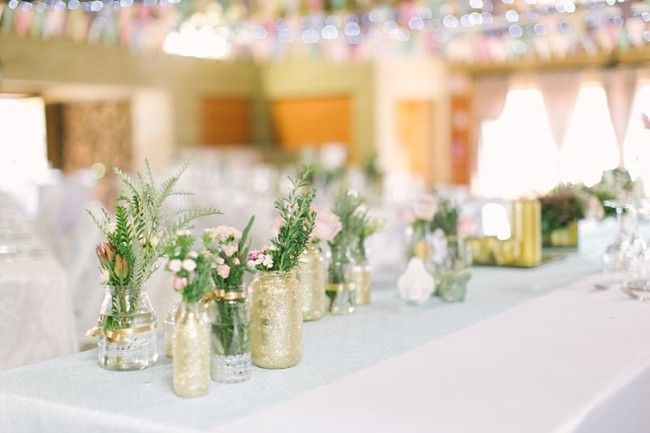 Do it yourself wedding table decorations gallery wedding 20 diy glitter wedding theme ideas inspiration weddings bridal solutioingenieria Image collections