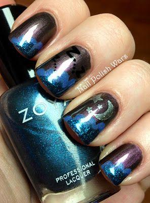 Nighty Night mani from Nail Polish Wars featuring Zoya Nail Polish in Ki, Jo and Kotori