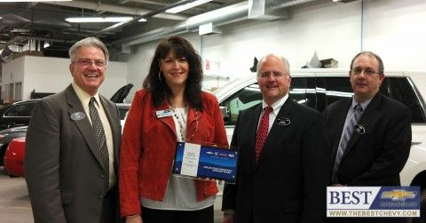 Best Chevrolet Cast Member Honored By Gm Andrea Downey Hingham Ma It Cast Chevrolet Hingham