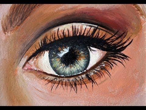 C mo pintar un ojo al leo tutorial p tutoria oleo - Ojos ahumados para principiantes ...