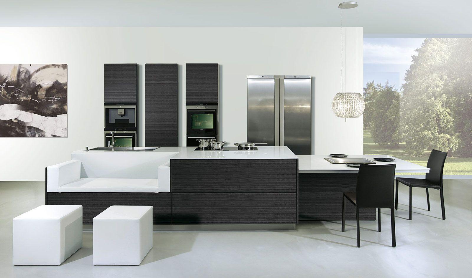 Cocinas integrales minimalistas con isla buscar con for Cocinas minimalistas
