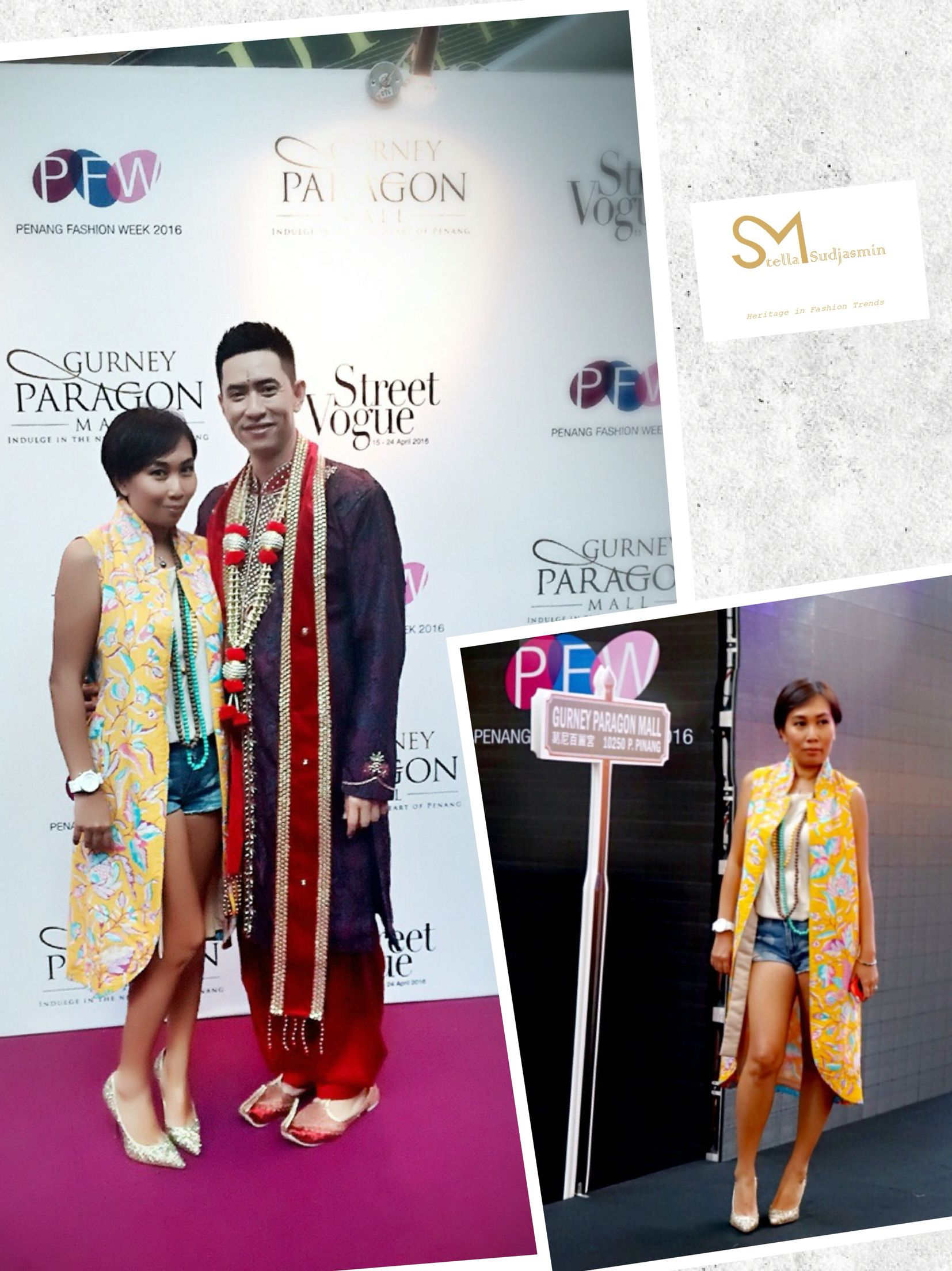 Fabulous!!! Mrs. Irene Wu, Founder of DAVE n IRENE WU at her collaboration with Brandon Tan, the designer of Bran et Daguet at Penang Fashion Week 2016. Mrs. Wu is wearing • Victoria Long Vest by Stella M Sudjasmin •