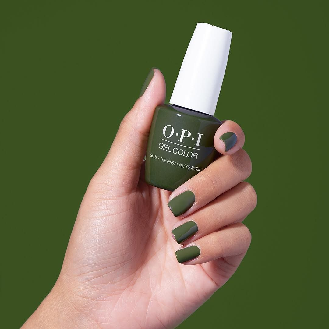 OPI gel color in green | Dress me! | Pinterest