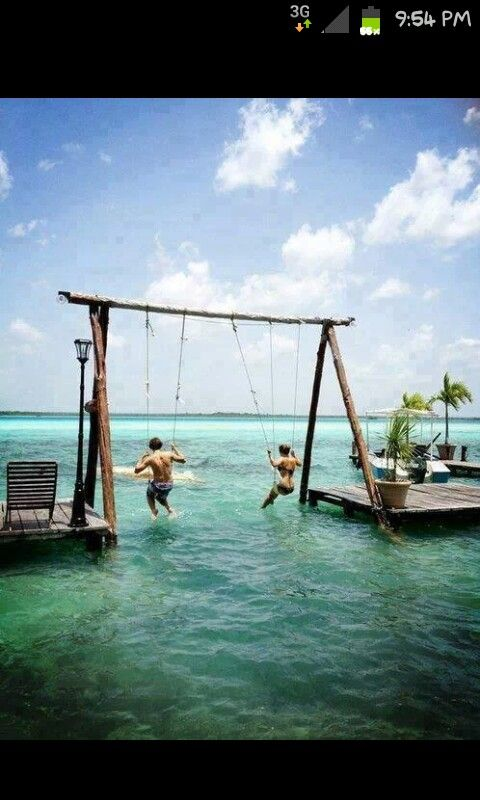 Swinging over the waters <3