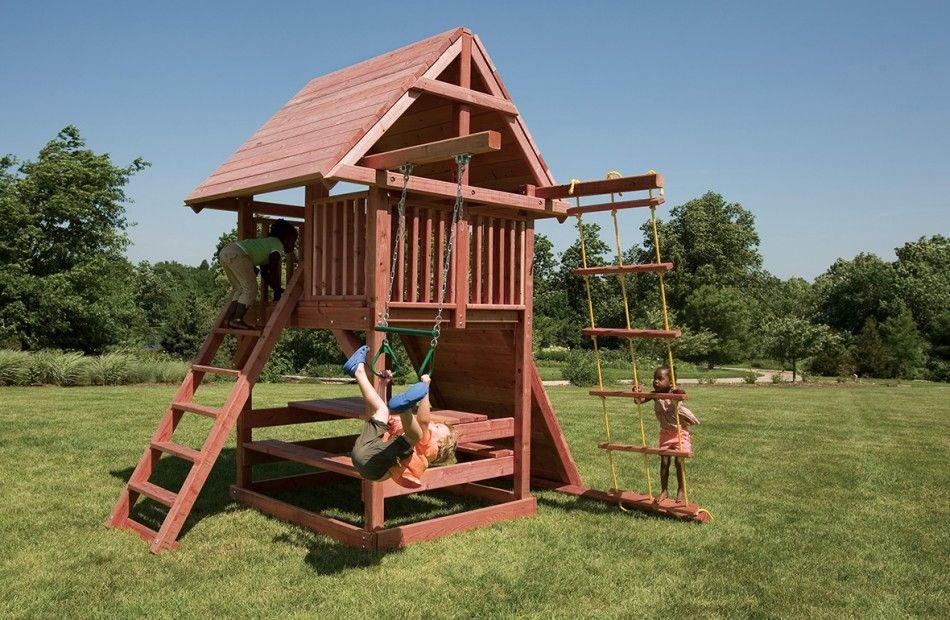 Small Backyard Swing Sets | Backyard swing sets, Backyard ...