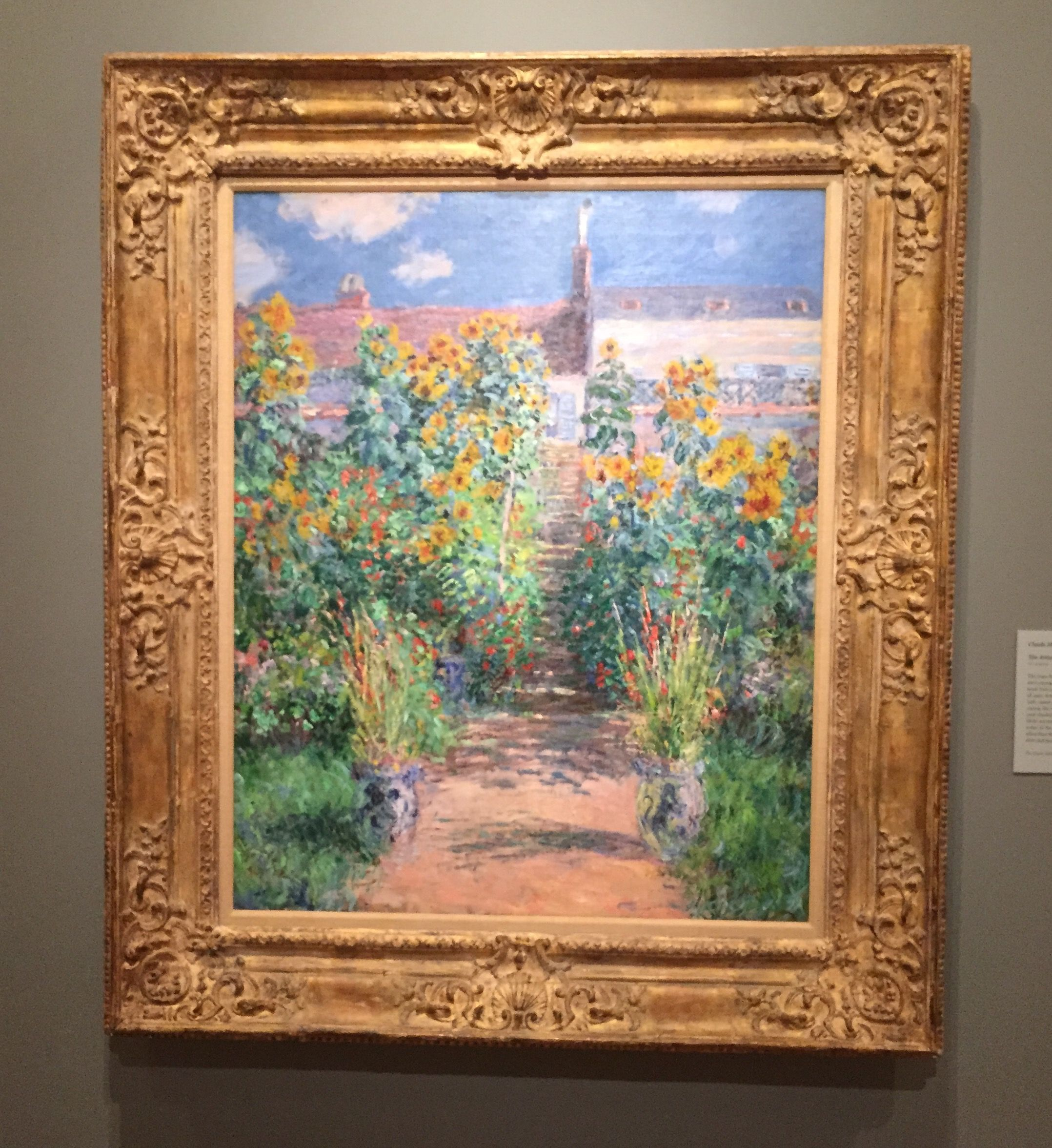 The Artistu0027s Garden At Vétheuil, Claude Monet, The Norton Simon Museum,  Pasadena,