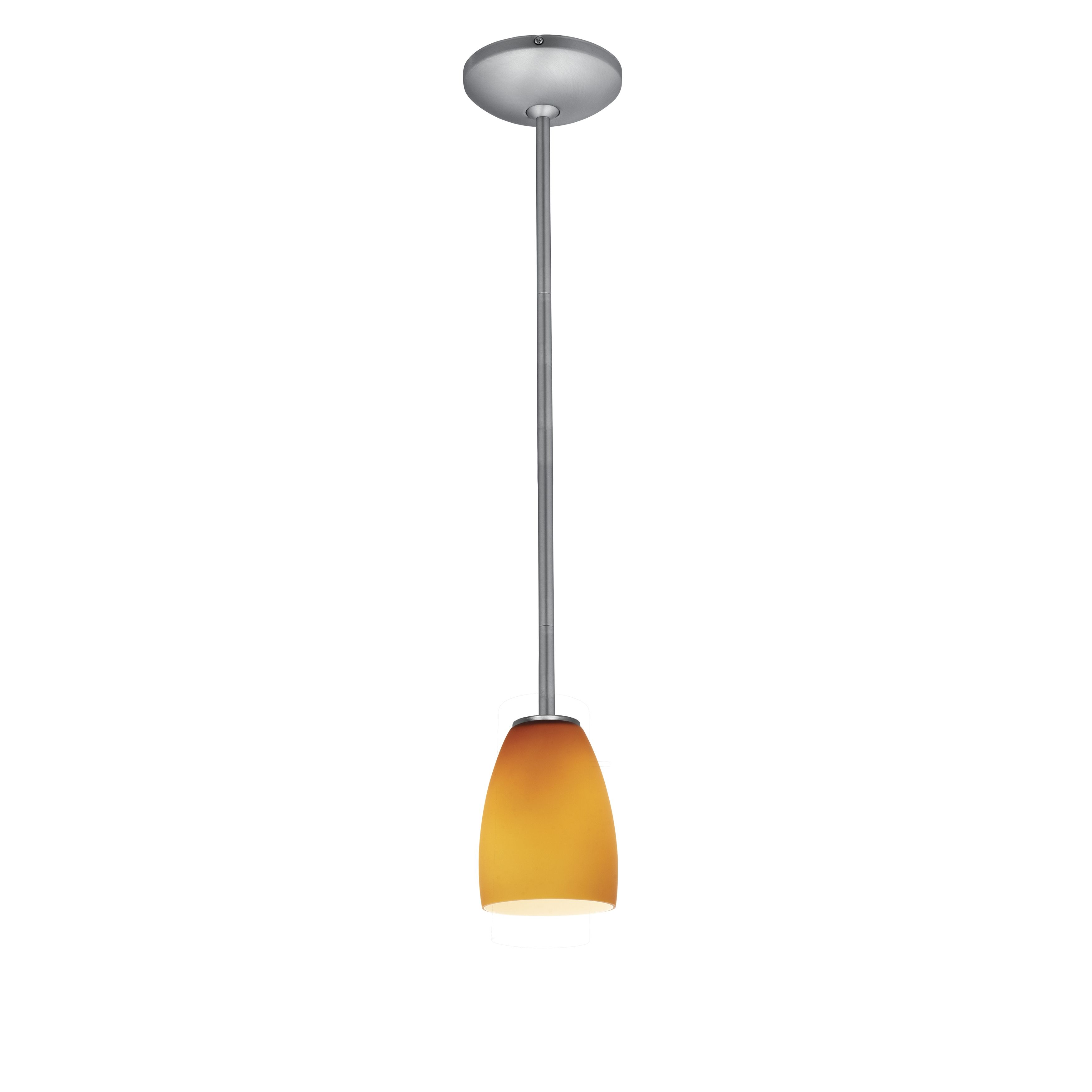 Access Julia 1 Light Brushed Steel Inari Energy Efficient Pendant