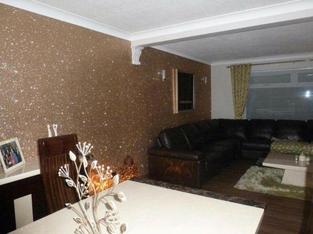 Glitter wall paint Home decor, Interior design, Interior