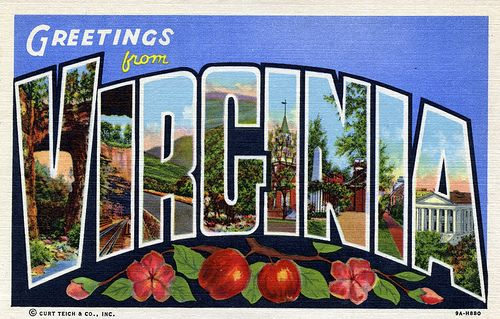 Image result for Greetings from Virginia Postcard.